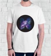 Unisex Creative White Round Neck Dri-Fit Tshirt