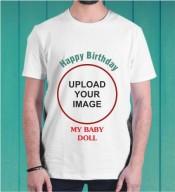 Birthday White Round Neck Dri-Fit Tshirt-003C
