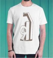 Unisex Bro White Round Neck Dri-Fit Tshirt