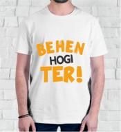 Unisex Behen Hogi Teri White Round Neck Dri-Fit Tshirt