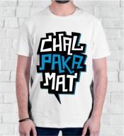 Unisex Chal Paka Mt White Round Neck Dri-Fit Tshirt