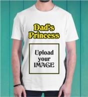 Dad's Princess White Round Neck Dri-Fit Tshirt-005C