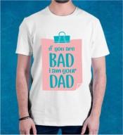 Unisex If You Are Bad White Round Neck Dri-Fit Tshirt