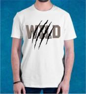 Unisex Wild White Round Neck Dri-Fit Tshirt