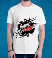 Unisex Game Changer White Round Neck Dri-Fit Tshirt