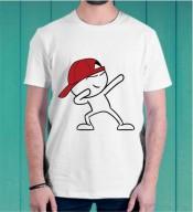 Unisex Cartoon White Round Neck Dri-Fit Tshirt