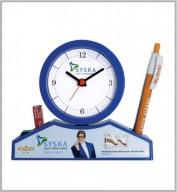Table Clock cum Pen Stand- 105
