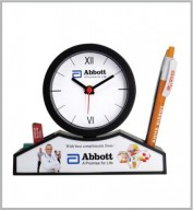 Table Clock cum Pen Stand- 106