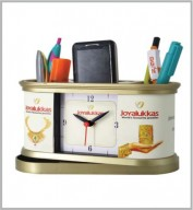 Table Clock with Revolving Pen Stand- 120