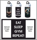 EAT SLEEP GYM REPEAT- GYM SIPPER BOTTLE