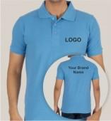 Sky Blue Matte Collar T-shirt (160gsm)