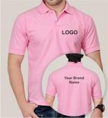 Pink Matte Collar T-shirt (160gsm)