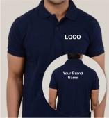 Navy Blue Matte Collar T-shirt (160gsm)