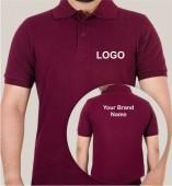 Maroon Matte Collar T-shirt (160gsm)