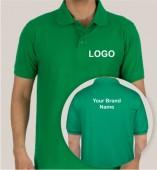 Green Matte Collar T-shirt (160gsm)