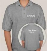 Grey Matte Collar T-shirt (160gsm)