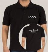Black Matte Collar T-shirt (160gsm)