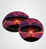 Customize Coaster with Tree image