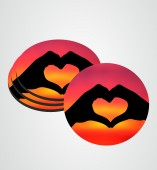 Customize Coaster with Heart image