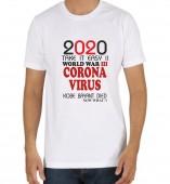 Unisex-Corona Virus 2020 White Round Neck Dri-Fit Tshirt
