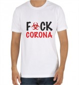 Unisex-Fuck Corona White Round Neck Dri-Fit Tshirt
