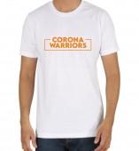 Unisex-Corona Warriors White Round Neck Dri-Fit Tshirt