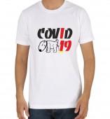 Unisex-Covid-19 White Round Neck Dri-Fit Tshirt