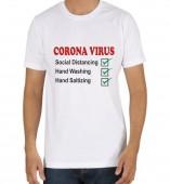 Unisex-Social Distancing White Round Neck Dri-Fit Tshirt