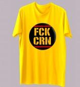 Unisex-Fuck Corona Yellow Round Neck Dri-Fit Tshirt
