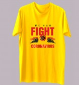 Unisex-Fight Corona Yellow Round Neck Dri-Fit Tshirt