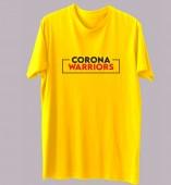Unisex-Corona Warriors Yellow Round Neck Dri-Fit Tshirt