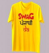 Unisex-Swag Jatt Da Yellow Round Neck Dri-Fit Tshirt