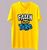 Unisex-Mai Haryanvi Yellow Round Neck Dri-Fit Tshirt