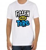 Unisex-Fitteh Muh Tere Yellow Round Neck Dri-Fit Tshirt