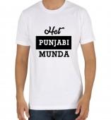 Unisex-Hot Punjabi Munda White Round Neck Dri-Fit Tshirt