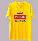 Unisex-Hot Punjabi Munda Yellow Round Neck Dri-Fit Tshirt