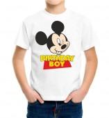 Kids-Birthday White Round Neck Dri Fit T-shirt