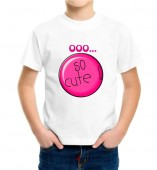 Kids-So Cute White Round Neck Dri Fit T-shirt