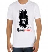 Unisex- Jai Hanuman White Round Neck Dri-Fit Tshirt
