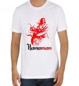 Unisex- Hanuman White Round Neck Dri-Fit Tshirt