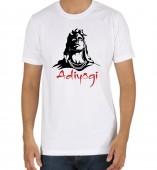 Unisex- Adiyogi White Round Neck Dri-Fit Tshirt