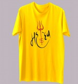 Unisex- Mahadev Yellow Round Neck Dri-Fit Tshirt