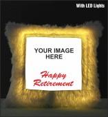 Happy Retirement  LED Cushion