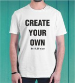 Create your own White Round Neck Dri-Fit Tshirt -001C