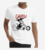 Unisex Biker White Round Neck Dri-Fit Tshirt