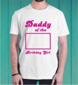 Dady of the Birthday Girl Dri Fit Tshirt-007C
