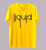 Unisex Typography Yellow Round Neck Dri-Fit Tshirt