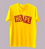 Unisex- Hope Yellow Round Neck Dri-Fit Tshirt