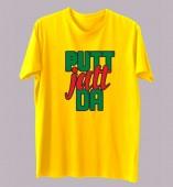 Unisex- Putt Jatt Da Yellow Round Neck Dri-Fit Tshirt