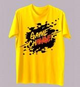 Unisex- Game Changer Yellow Round Neck Dri-Fit Tshirt